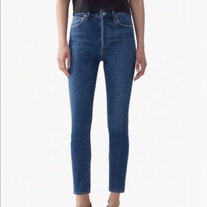 Agolde Nico High Rise Slim Fit Jeans, Sz 30